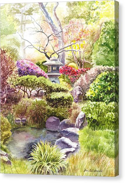 Tea Leaves Canvas Print - San Francisco Golden Gate Park Japanese Tea Garden  by Irina Sztukowski