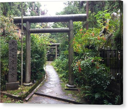 Japanese Temple Passage Canvas Print