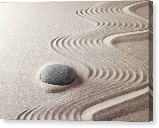 Japanese Zen Garden 21x30 Canvas Print