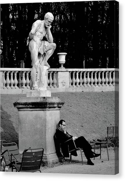 Jardin Canvas Print - Jardin Du Luxembourg by St??phane Breton