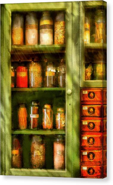 Tea Leaves Canvas Print - Jars - Ingredients II by Mike Savad