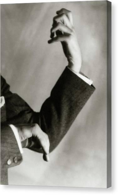Jascha Heifetz' Hands Canvas Print by Francis Bruguiere