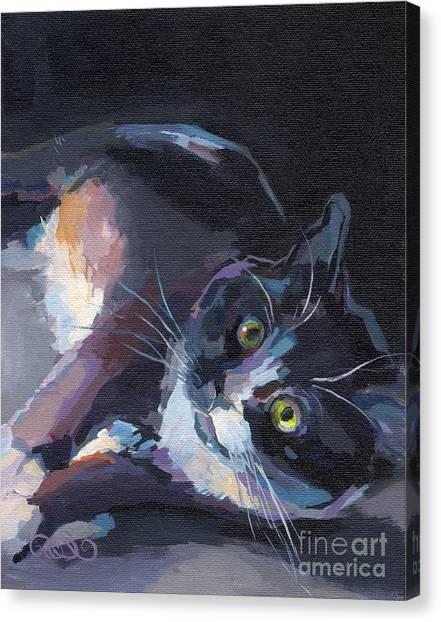 Tuxedo Canvas Print - Jasmine by Kimberly Santini