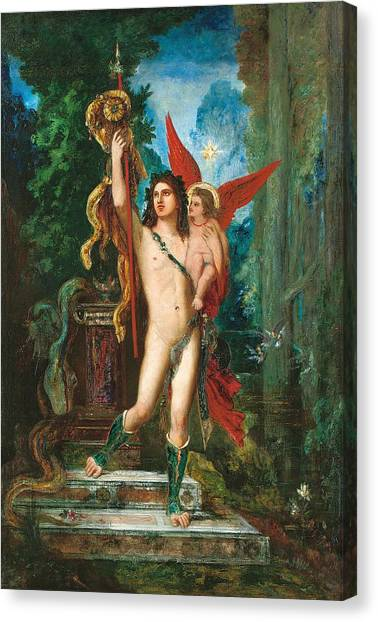 Neoclassical Art Canvas Print - Jason And Eros by Gustave Moreau