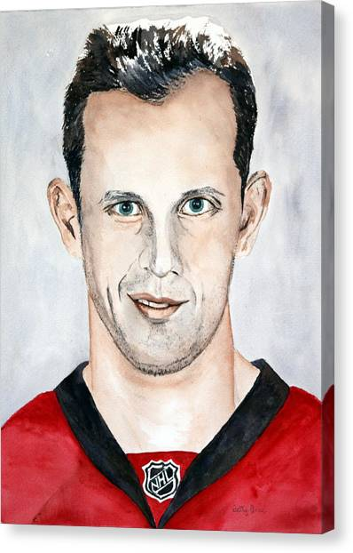 Ottawa Senators Canvas Print - Jason Spezza by Betty-Anne McDonald