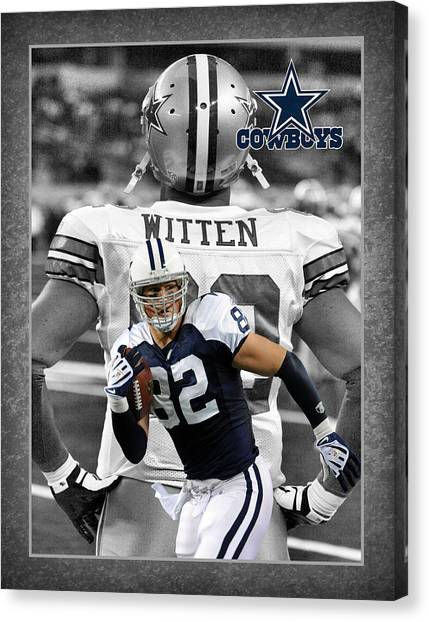 Dallas Canvas Print - Jason Witten Cowboys by Joe Hamilton
