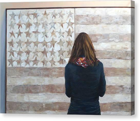 Jasper Johns Canvas Print - Jasper Johns Revisited by Rosalie Vaccaro