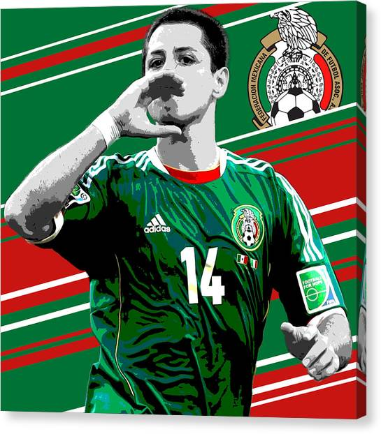 Manchester United Canvas Print - Javier Hernandez Mexico Print by Pro Prints