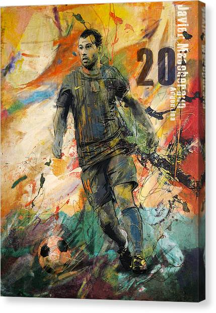 Fifa Canvas Print - Javier Mascherano by Corporate Art Task Force