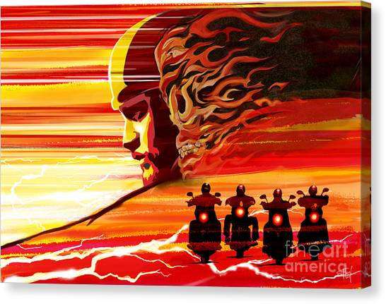 Flames Canvas Print - Jax Teller by Sassan Filsoof