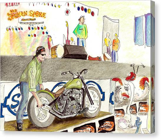 Jay Allen At The Broken Spoke Saloon Canvas Print