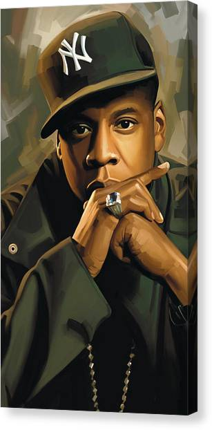 Jay Z Canvas Print - Jay-z Artwork 2 by Sheraz A