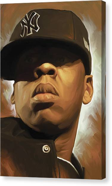 Jay Z Canvas Print - Jay-z Artwork by Sheraz A