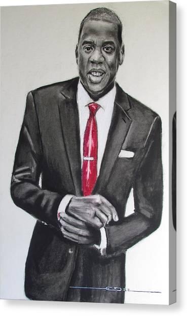Jay Z Canvas Print - Jay Z by Eric Dee
