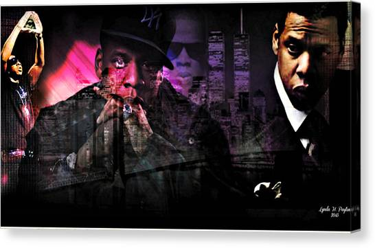 Jay Z Canvas Print by Lynda Payton