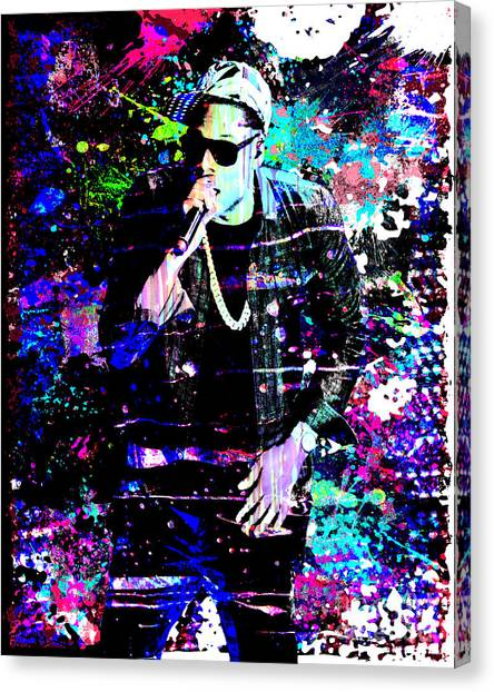Jay Z Canvas Print - Jay Z Original Painting Art Print by Ryan Rock Artist