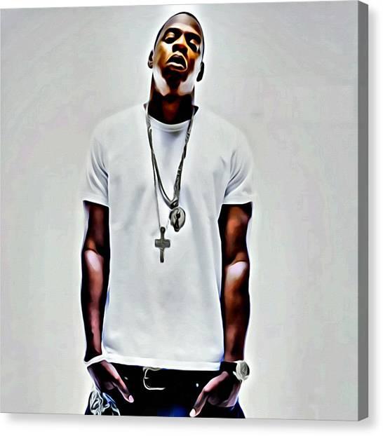 Jay Z Canvas Print - Jay-z Portrait by Florian Rodarte