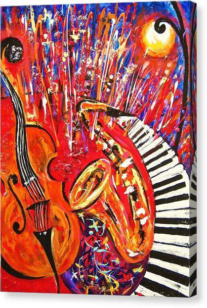 Jazz And The City 2 Canvas Print
