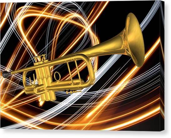 Jazz Art Trumpet Canvas Print