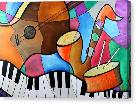 Jazz Band Inspired By Eric Waugh Canvas Print