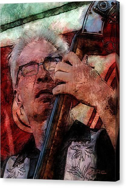 Jazz Bass Man Canvas Print