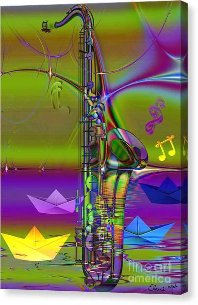 Jazz Chill Canvas Print by Eleni Mac Synodinos