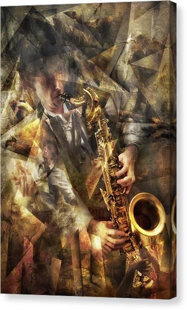 Cubism Canvas Print - Jazz by Christophe Kiciak