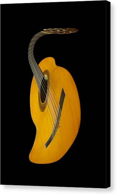 Guitar Picks Canvas Print - Jazz Guitar by Debra and Dave Vanderlaan