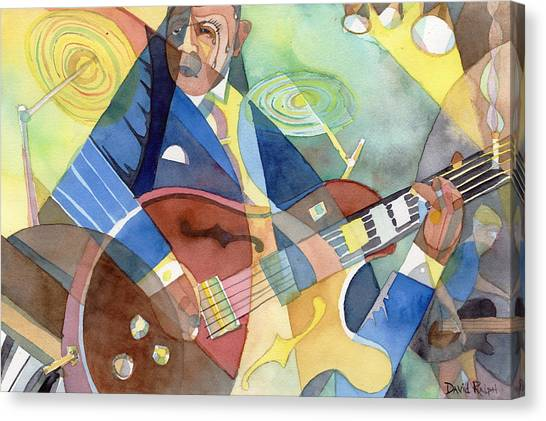 Jazz Guitarist Canvas Print