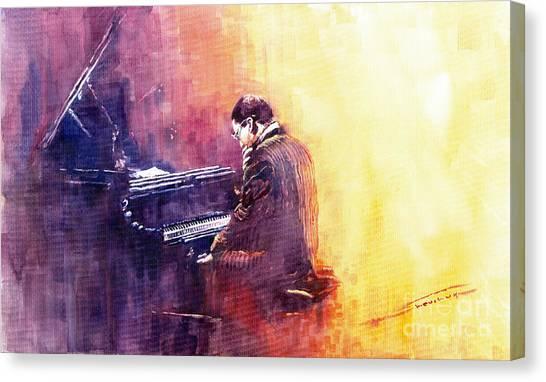 Jazz Canvas Print - Jazz Herbie Hancock  by Yuriy Shevchuk