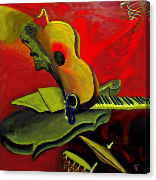 Imaginative Canvas Print - Jazz Infusion by Fli Art