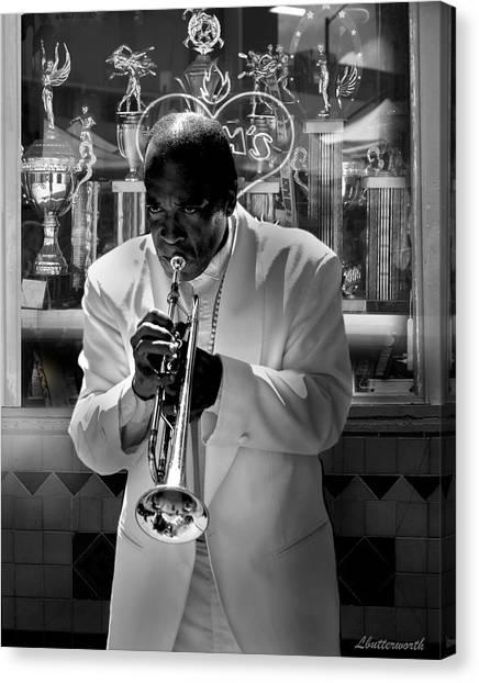 Jazz Man Canvas Print by Larry Butterworth