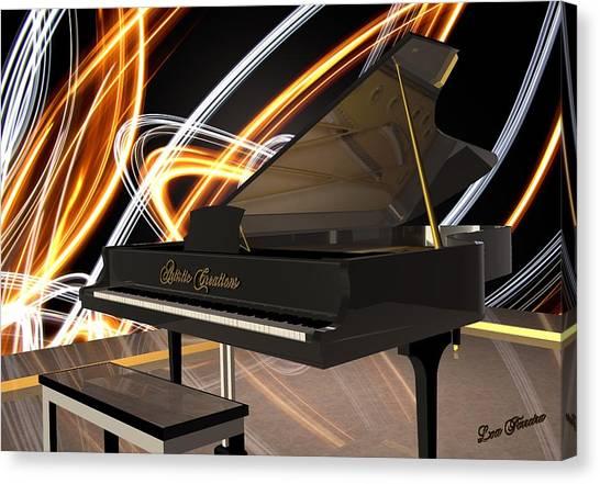 Jazz Piano Bar Canvas Print