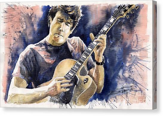 Impressionist Canvas Print - Jazz Rock John Mayer 06 by Yuriy Shevchuk