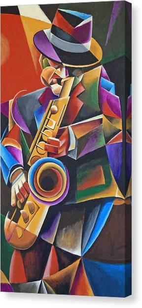 Jazz Sax Canvas Print by Bob Gregory