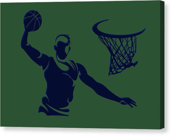 Utah Jazz Canvas Print - Jazz Shadow Player1 by Joe Hamilton