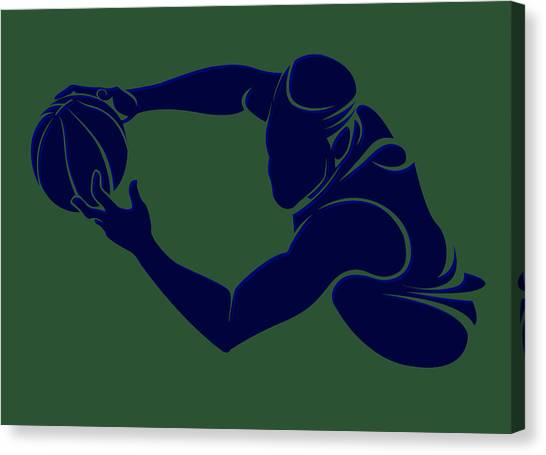 Utah Jazz Canvas Print - Jazz Shadow Player2 by Joe Hamilton
