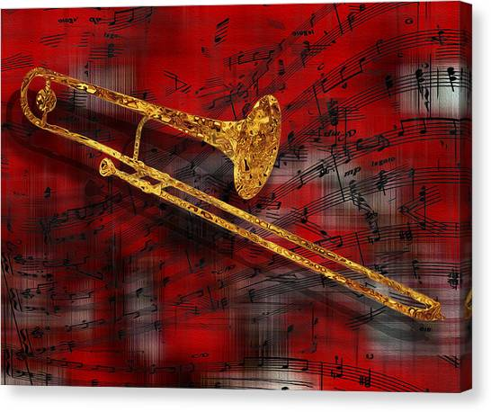 Tubas Canvas Print - Jazz Trombone by Jack Zulli