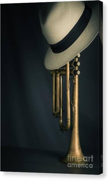 Banjos Canvas Print - Jazz Trumpet by Carlos Caetano