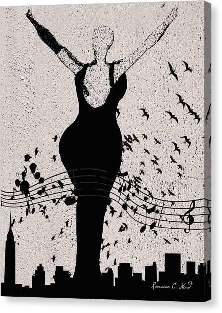 Jazzinthesky Canvas Print