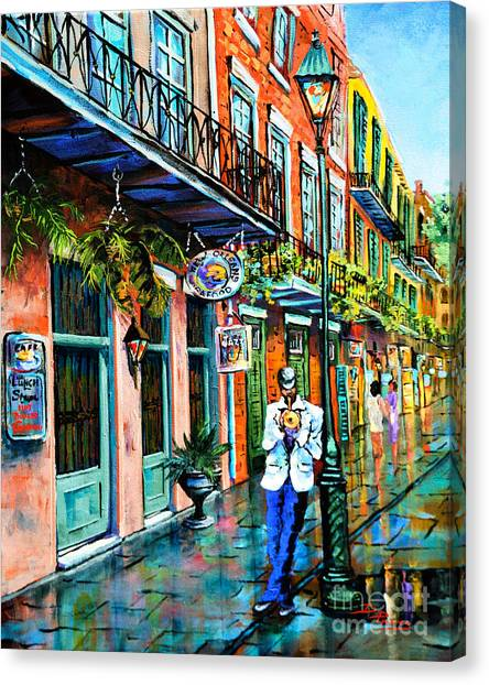 Mardi Gras Canvas Print - Jazz'n by Dianne Parks