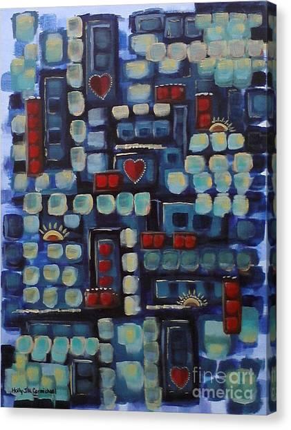 Jazzy Love Canvas Print