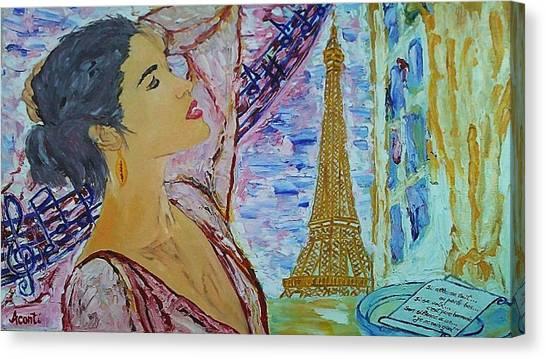 Voix Canvas Print - Je Ne Sais Quoi by Aconti