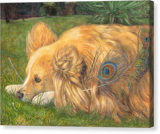 Border Collies Canvas Print - Jealous Jessie by Emily Hunt and William Holman Hunt
