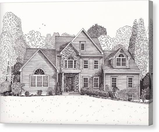 Jean And John's House  Canvas Print