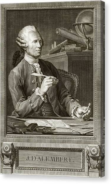 Equilibrium Canvas Print - Jean D'alembert by Emmet Collection Of Manuscripts/new York Public Library