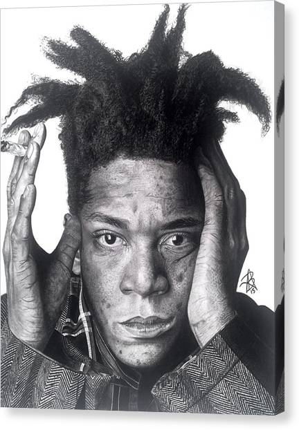 Jean-michel Basquiat Drawing Canvas Print
