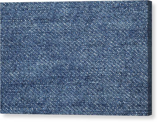 Jeans Texture Canvas Print by Andrew Dernie