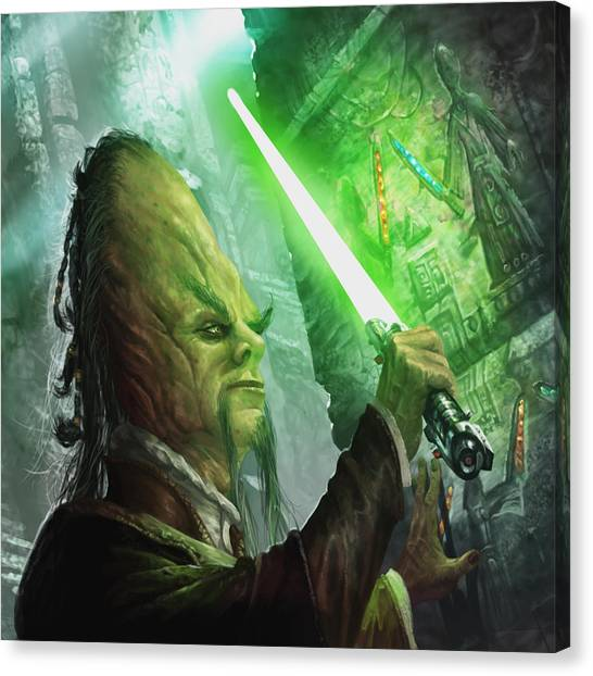 Archaeologists Canvas Print - Jedi Archaeologist by Ryan Barger