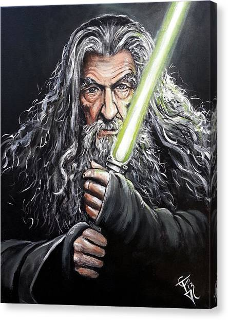 Jedi Canvas Print - Jedi Master Gandalf by Tom Carlton